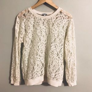 Express Long Sleeve Lace Top